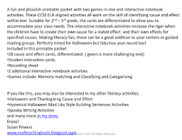 Halloween Mad Libs Free by Ghoulish Game Of Cause And Effect