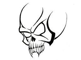 Simple Tribal Skull Tattoos