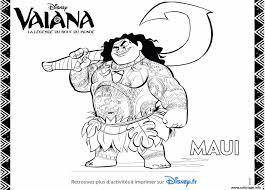 Coloriage Maui Du Film Disney Moana JeColoriecom