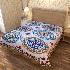 Bed Sheet Embroidery Design India