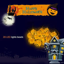 Fiber Optic Pumpkin Decorations by Large Pumpkin Led String Lights 20 Leds 5 Meters Diy Home