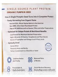 Sprouting Pumpkin Seeds by Seed Protein Powder 16 Oz 454 Grams
