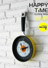Modern Unique Frying Pan Shape Digital Wall Clocks Designer Kitchen For Home Decoration