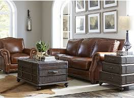 cool brown leather sectional sofa by havertys sofa for living room