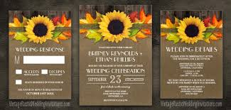 Fall Sunflower Wedding Invitations