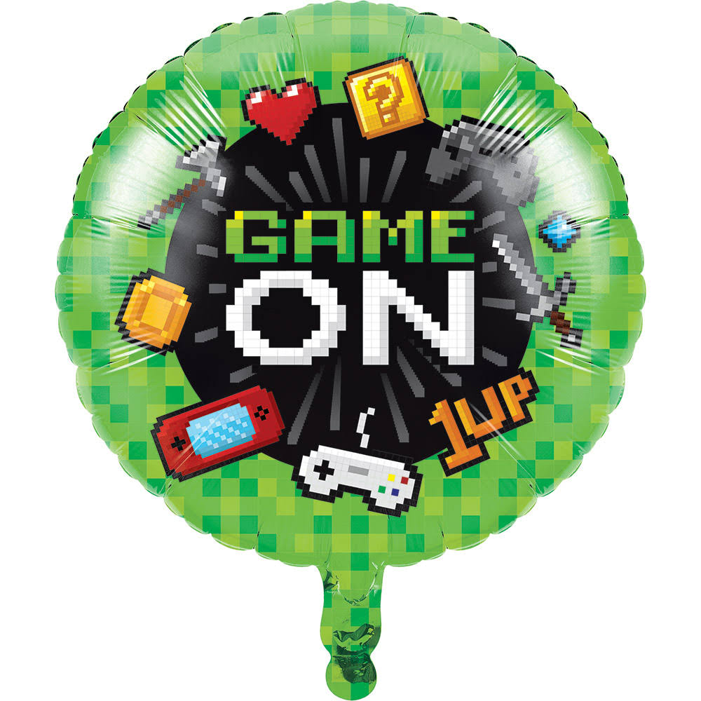 Video Game Mylar Party Balloon