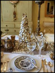 Simon Pearce Christmas Trees by Tablescape Grey Winter Dinner Swede