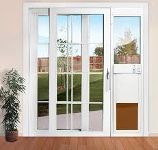 Beautiful Electronic Patio Pet Door Turns Any Sliding Glass Door