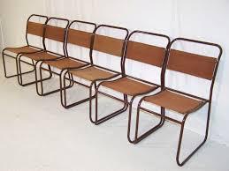 vintage bauhaus 1930s PEL stacking tubular metal and canvas chairs