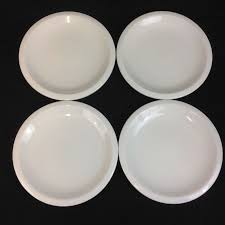 Pottery Barn Suppertime Form Four 10 1 8 Inch White Dinner Plates