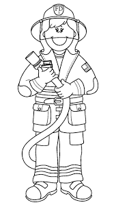 Printable Firefighter Coloring Pages Hat Page Fire Fighter Free