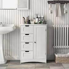 flieks beistellschrank 1 st badezimmerschrank badschrank aus holz mit 4 schubladen und 1 schranktür 55x30x82cm kaufen otto