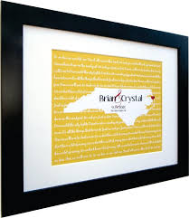 Wedding Lyrics Song Map Wall Art Personalized Gift ANY Favorite First Dance Idea For Couple Print