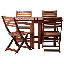 Runnen Floor Decking Outdoor Brown Stained by äpplarö Table And 4 Folding Chairs Outdoor Brown Brown Stained