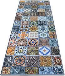 teppichläufer bonita patchwork muster im vintage look viele größen moderner teppich läufer für flur küche schlafzimmer niederflor