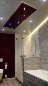 hochglänzende badezimmer spanndecke plameco mit moderner