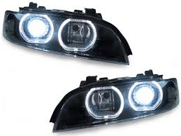 97 00 bmw e39 v3 u ring led halo d2s xenon hid headlight auto