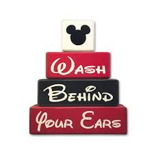 Mickey And Minnie Mouse Bath Decor by Mickey Bathroom Decor Wash Behind Your Ears U2022 Apple Jack Designs
