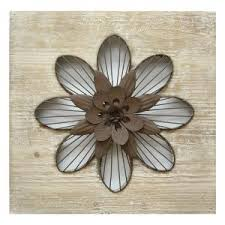 Internet 302775861 Stratton Home Decor Rustic Flower Wall