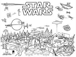 Star Wars Coloring Pages Scene
