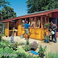 How To Build A Wooden Shed Ramp by How To Build A Garden Shed Addition Family Handyman