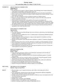 Service Coordinator Resume Samples