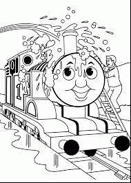 Terrific Coloring Pages James Thomas The Tank Engine With And