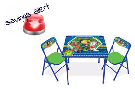 kohl s paw patrol activity table chairs set 15 04 11 10 only
