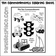 Ten Commandments Coloring Sheet