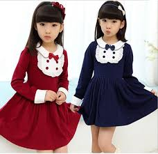 Toddler Girl Dresses Winter Autumn Outfits Clothing Fall 2015 Fashion Teen Dress Clothes