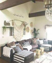 Mixing Boho Rustic And Glam Elements Works Great For Living Rooms