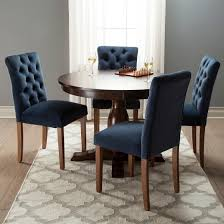 brookline tufted velvet dining chair chestnut finish br