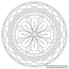 Inspirational Flower Mandala Coloring Pages 96 In Download With