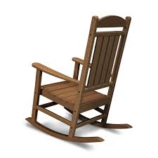 Presidential Recycled Plastic Wood Patio Rocking Chair By POLYWOOD - Teak