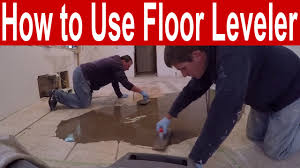 Wood Floor Leveling Filler by How To Use Floor Leveler To Fill Low Spots Before Laying New