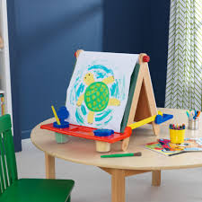 Kidkraft Easel Desk Espresso by Tabletop Easel Natural With Primary
