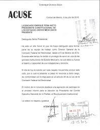 Carta Renuncia Mexico 2016