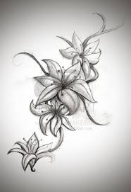 Lily Flower Tattoo Design image to find more Art Pinterest