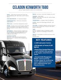 Celadon #Kenworth Spec Sheet 2015. See What Our Drivers Work With ...