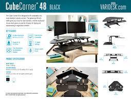 Varidesk Standing Desk Floor Mat by Cubicle Standing Desks Varidesk Height Adjustable Desks