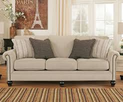 linen pull out queen sofa sleeper by ashley