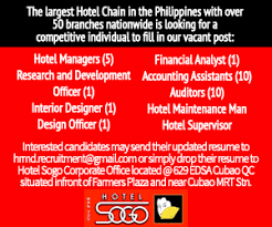 Front Desk Agent Salary Philippines by Jobfinder Philippines Free Job Posting Here