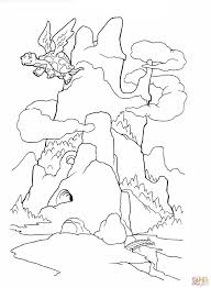 Dragon Mountain Coloring Page Free Printable Pages With