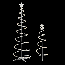 Home Depot Pre Lit Christmas Trees by Home Accents Holiday Led Lighted Spiral Tree 2 Pack Ty S46 C