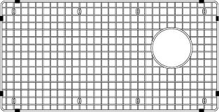 Blanco Diamond Sink Grid by Blanco 406495 Diamond Maxi Sink Grid Stainless Steel Plumbing