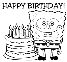 Happy Birthday Coloring Page For Boys Card