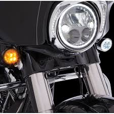 Harley Davidson Light Bulb Cross Reference by Ciro Chrome Fang Front Turn Signal Light Insert 45400 Harley