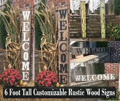 Large Welcome Signs Rustic Wood Porch Front Decor