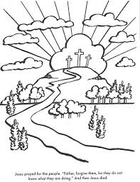 The Crucifixion Bible Coloring Page For Kids To Learn Stories