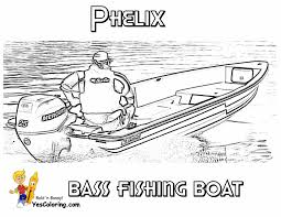 Free Bass Fishing Boat Coloring Picture
